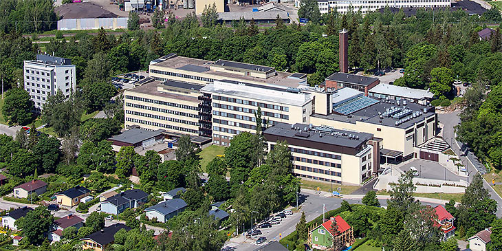 Tyks Salo Hospital from air.