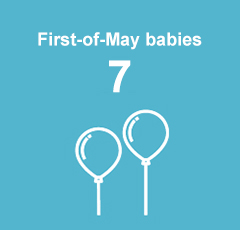 10 First-of-May babies.