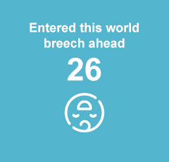 22 babies entered this world breech ahead.